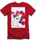 Anemone Flowers  Men's T-Shirt (Athletic Fit)