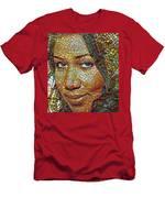 Aretha Franklin Tribute Mosaic Portrait 2 Men's T-Shirt (Athletic Fit)
