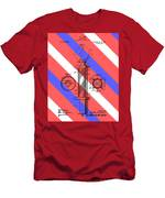 Barber Pole Patent Men's T-Shirt (Athletic Fit)