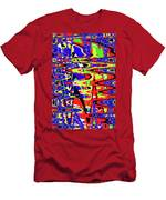 Bright Color Mix Abstract Men's T-Shirt (Athletic Fit)