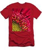 Bright Red Gerbera Daisy Men's T-Shirt (Athletic Fit)