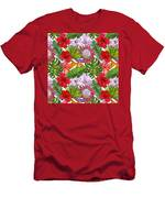 Brightly Colored Tropical Flowers And Ferns  Men's T-Shirt (Athletic Fit)