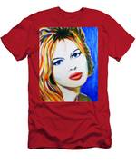 Brigitte Bardot Pop Art Portrait Men's T-Shirt (Athletic Fit)