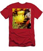 Cactus Bloom In Yellow 050715ab Men's T-Shirt (Athletic Fit)