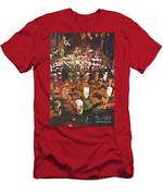 Candles In Graveyard During Day Of The Dead In Patzcuaro, Mexico Men's T-Shirt (Athletic Fit)