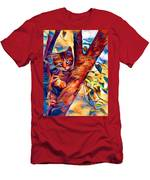 Cat In Tree Men's T-Shirt (Athletic Fit)