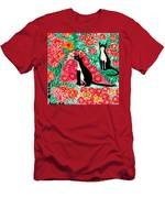 Cats And Roses Men's T-Shirt (Athletic Fit)