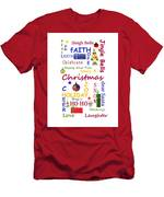 Christmas Message  -  Typography Men's T-Shirt (Athletic Fit)