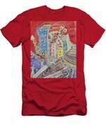 City Sunset, Men's T-Shirt (Athletic Fit)