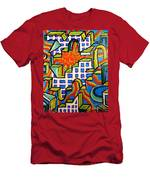 Climbing Abstractly  Men's T-Shirt (Athletic Fit)