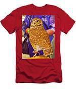Coco The Burrowing Owl In Living Desert Zoo And Gardens In Palm Desert-california Men's T-Shirt (Athletic Fit)