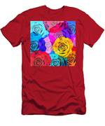 Colorful Roses Design Men's T-Shirt (Athletic Fit)