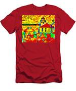 Colors Of Lime Kiln Lighthouse Men's T-Shirt (Athletic Fit)