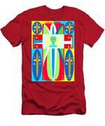 Cross Of Colors Men's T-Shirt (Athletic Fit)