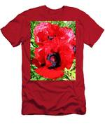 Dazzling Red Poppies Men's T-Shirt (Athletic Fit)