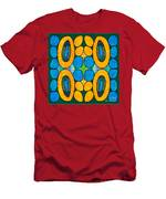 Dreaming In Circles Abstract Hard Candy Art By Omashte Men's T-Shirt (Athletic Fit)