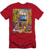 Fairmount Bagel Fairmount Street Montreal Men's T-Shirt (Athletic Fit)