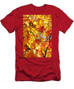 Fall Leaves Background Men's T-Shirt (Athletic Fit)