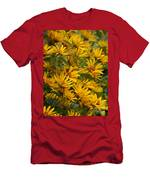 Filled With Sunflowers Vertical Men's T-Shirt (Athletic Fit)