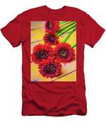 Five Red Dasies Men's T-Shirt (Athletic Fit)