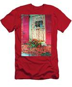 Flower Box  And Pink Shutters Men's T-Shirt (Athletic Fit)