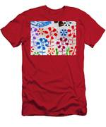 Flower Face Murial Men's T-Shirt (Athletic Fit)