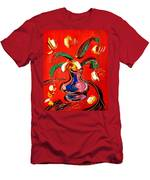 Flowers Abstract Men's T-Shirt (Athletic Fit)