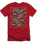 Flowers Indigo Red And Blue Men's T-Shirt (Athletic Fit)