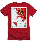 Framed Scribbles And Splatters On Canvas Wrap Men's T-Shirt (Athletic Fit)