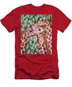 Giraffe Trio By Christine Lites Men's T-Shirt (Athletic Fit)