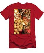Gold Ornaments Holiday Card Men's T-Shirt (Athletic Fit)