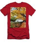 Graveyard In Autumn Men's T-Shirt (Athletic Fit)