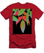 Hanging Green And Red Leafs... Men's T-Shirt (Athletic Fit)