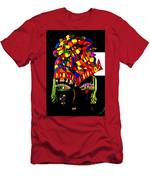 Hat 2 Helmet With Flowers Men's T-Shirt (Athletic Fit)