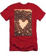 Hearts And Chocolate Drops. Valentines Background Men's T-Shirt (Athletic Fit)