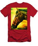 horse portrait PRINCETON yellow Men's T-Shirt (Athletic Fit)