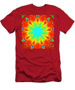 Hot Kaleidoscope Flower Men's T-Shirt (Athletic Fit)
