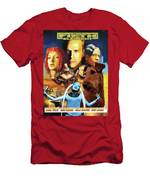Irish Terrier Art Canvas Print - The Fifth Element Movie Poster Men's T-Shirt (Athletic Fit)