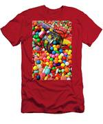Jar Spilling Bubblegum With Candy Men's T-Shirt (Athletic Fit)