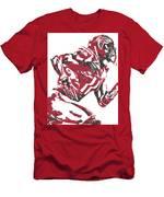 Julio Jones Atlanta Falcons Pixel Art 11 Men's T-Shirt (Athletic Fit)