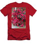 Knockout Red Rosebush Men's T-Shirt (Athletic Fit)