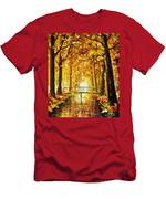 Long Before Winter - Palette Knife Oil Painting On Canvas By Leonid Afremov Men's T-Shirt (Athletic Fit)
