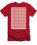 Love In Red Men's T-Shirt (Athletic Fit)