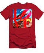 Love Swirls At The San Francisco Cupids Span Sculpture Dsc1819 Men's T-Shirt (Athletic Fit) by Wingsdomain Art and Photography