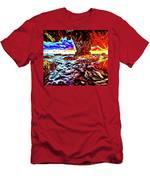 Malibu Sunset Men's T-Shirt (Athletic Fit)