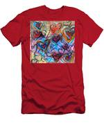 Many Hearts Men's T-Shirt (Athletic Fit)