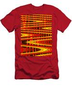 Moveonart Abstract Waves And Light Five Men's T-Shirt (Athletic Fit)