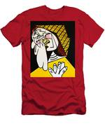New Picasso The Weeper 2 Men's T-Shirt (Athletic Fit)