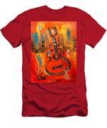 New York Guitar Men's T-Shirt (Athletic Fit)