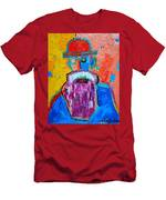 Old Man With Red Bowler Hat Men's T-Shirt (Athletic Fit)